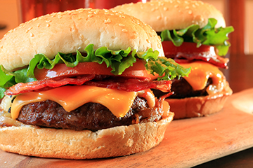 Apple Butter Bacon Cheddar Burger