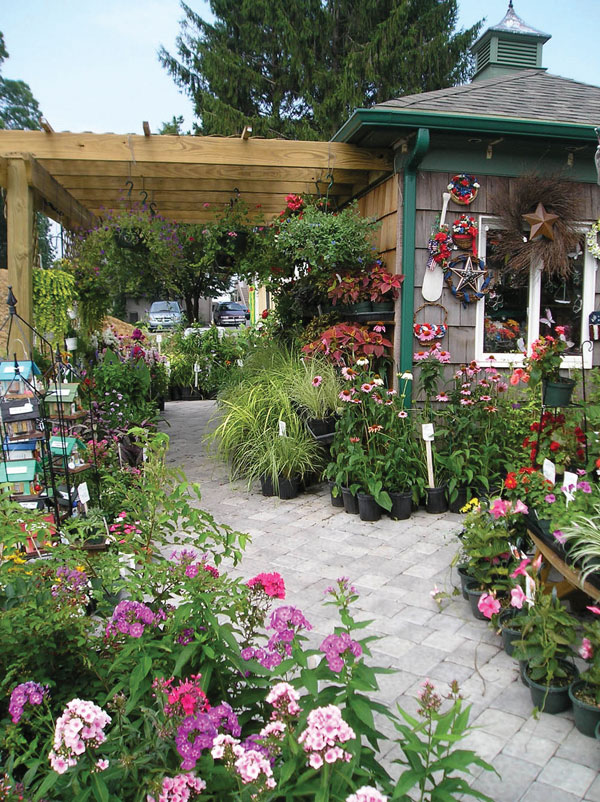 Kitchen Kettle Village - Outdoors in the Village with flowers