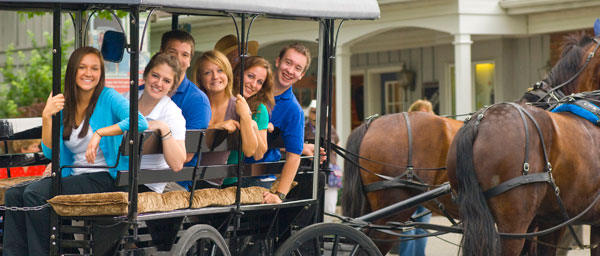 Students taking an AAA buggy ride