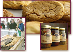 Home-made PA Dutch gifts, baked goods, jellies, jams, relishes and sauces