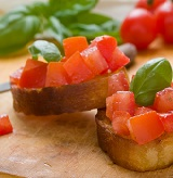 Lisa's Balsamic Vinaigrette Bruschetta