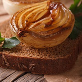 Pear & Carmelized Onion Crostini