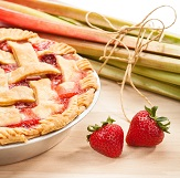Rhubarb and Strawberry Cheese Pie