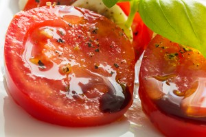 Tomatoes with balsamic vinegar from The Olive Basin