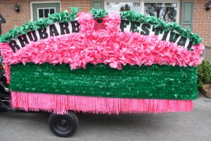 Rhubarb Festival Float