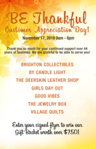 Burnley Enterprises presents 'BE Thankful' Customer Appreciation Day!